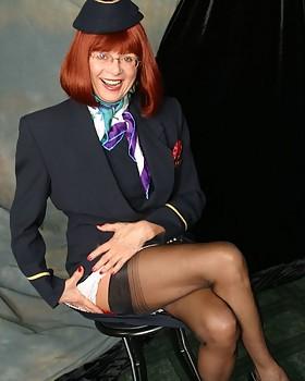 Stewardess masturbation - starring Abigail Fraser